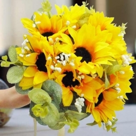 Artificial SunFlower Posy Diameter 20cm