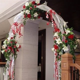 Wedding Arch Rental 1 Day Decorated With Silk Flowers